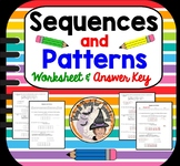 Sequences Patterns Tables Worksheet Sequence Pattern Table Word Problems