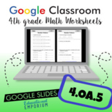 Sequences and Patterns Worksheets for Google Classroom™ ⭐ 4.OA.5