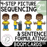 Sequences and Sentences 2nd Edition Boom Cards™ No Print Speech Therapy