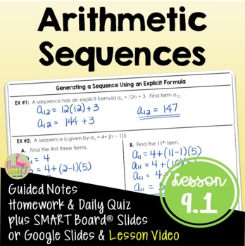 Algebra 2: Arithmetic Sequences