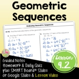 Algebra 2 Geometric Sequences