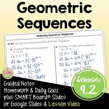 Algebra 2: Geometric Sequences