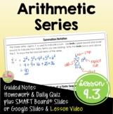 Arithmetic Series (Algebra 2 - Unit 9)