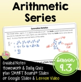Arithmetic Series (Algebra 2 - Unit 9)