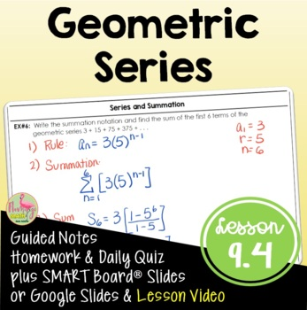 Algebra 2: Geometric Series
