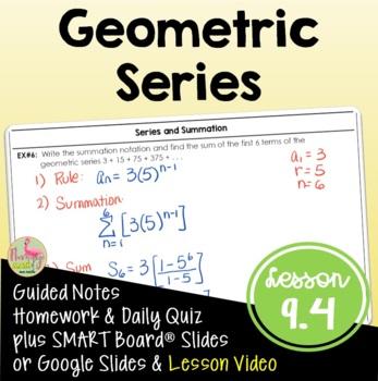 Algebra 2: Geometric Series