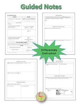 Algebra 2: Sequences and Series Bundle