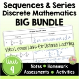 Sequences and Series BIG Bundle with Lesson Videos (Unit 9)