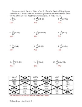 Sequences and Series Bundle - 13 worksheets