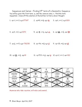 Sequences and Series - Finding Nth term of a Geometric Sequence