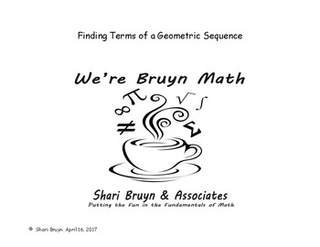 Sequences and Series - Finding Terms of a Geometric Sequence
