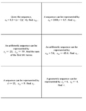Sequences and Series Flip Cards
