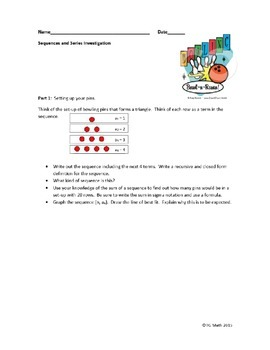 Sequences and Series Investigation
