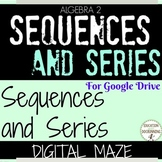 Sequences and Series Activity Digital Maze for Google Driv