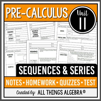 Sequences and Series (PreCalculus Curriculum - Unit 11) DISTANCE LEARNING