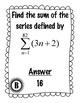 Sequences and Series Scavenger Hunt and More!