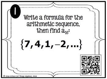 Sequences and Series Task Cards (Arithmetic & Geometric)