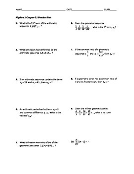 Sequence And Series Precalc Worksheets & Teaching Resources