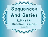 Sequences and Series Unit - Bundled notes and task cards