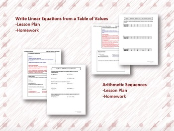Sequences and Variation Lesson Plan Bundle