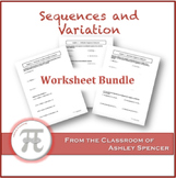 Sequences and Variation Worksheet Bundle