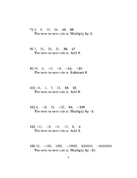 Sequences-determining the rule