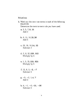 Sequences-determining the rule  and finding terms