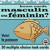 Masculin ou Féminin: French BOOM Cards for Distance Learning