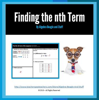 Sequences finding the nth Term Scaffold Notes
