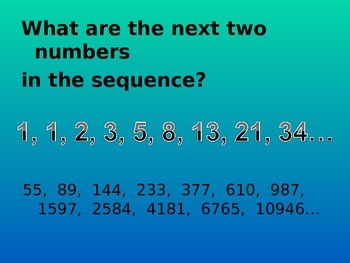 Sequences linear and quadratic - Common Core Math 2