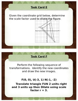 Sequences of Transformations including Dilations