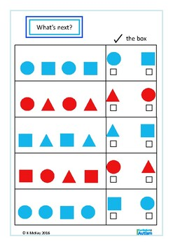 Autism Patterns & Sequences Visual Perception Skills, Special Education