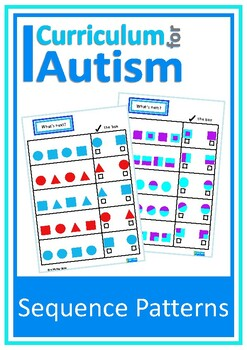 Patterns Sequences Visual Discrimination Autism Special Education