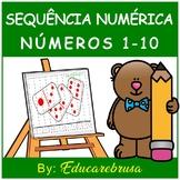 Português, Sequência Numérica - Números de 1 a 10, Educação Inclusiva, Autismo