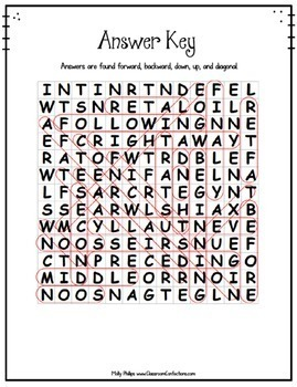 Sequencing & Time Order Activity: Sequencing and Time Order Word Search