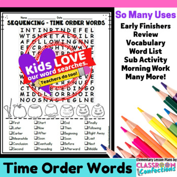 Sequencing & Time Order Activity: Sequencing and Time Orde