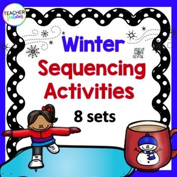 Sequencing Activities & Sentence Writing (Seasonal: Winter)