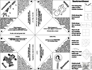 Sequence of Events Activity/ Foldable 5th 4th 3rd Grade Reading Comprehension