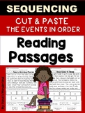 First Grade Reading Comprehension Passages: Sequencing Story Events
