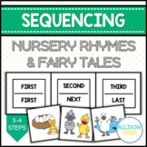 Nursery Rhymes and Fairy Tales Sequencing Cards Speech Therapy