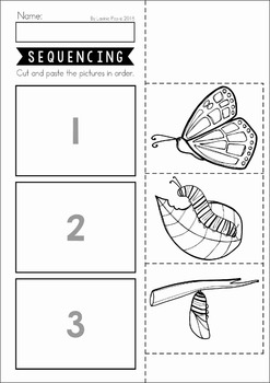Sequencing Worksheets and Center Activity