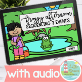 Sequencing 3 Events | Froggy Afternoon Boom Cards™