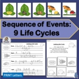 9 Life Cycles for Plants and Animals Sequencing of Events