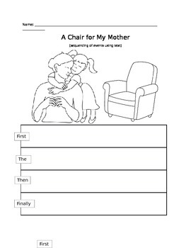 Sequencing- A Chair for My Mother