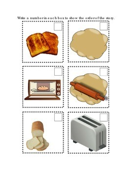 Sequencing A Recipe Dough Bread Toast Following Directions Emergent Reader Math