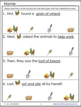 Sequencing Activities - Little Red Hen