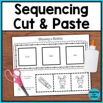 Sequencing Activities for Special Education and Autism BUNDLE (3 step)
