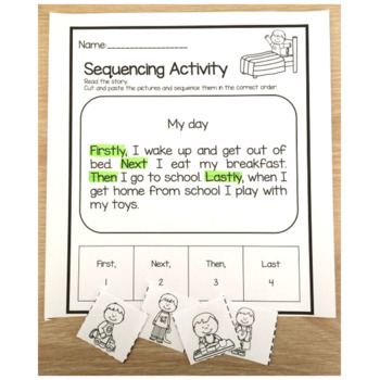 Sequencing Activities 10 cut and paste reading comprehension activity sheets