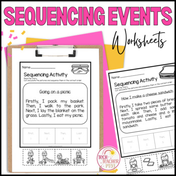 Sequencing Activities Pack - 10 cut and paste activity sheets