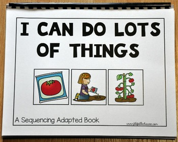 "Sequencing Activities--""Sequencing Adapted Book I and Worksheets"""
